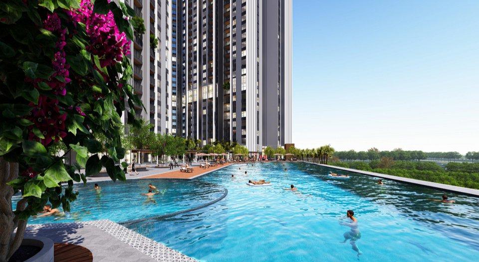 bể bơi chung cư Central Residence