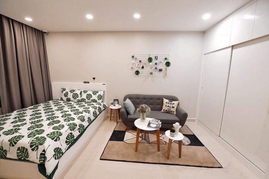 phòng khách và phòng ngủ