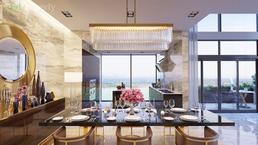 khu bếp và phòng ăn
